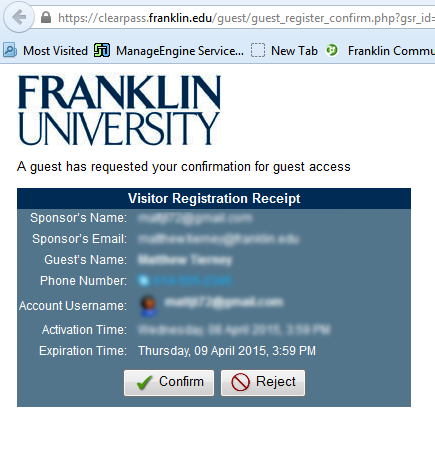 Guest WiFi Access at Franklin University – BlueQuill